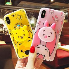 Kawaii Winnie And Bunny Gasbag Ring Phone Case for iphone 6/6s/6plus/7/7plus/8/8P/X/XS//XR/XS Max PN0705 Iphone 6, Coque Iphone, Iphone Phone Cases, Phone Covers, Kawaii Phone Case, Iphone Cases Disney, Cute Cases, Cute Phone Cases, Smartphone