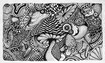 mushroom doodle art