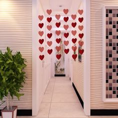 Get Festnight Luxury Large Size 6  8Ft Red Heart String Diy Decorations For Valentines Day Engagement Wedding … | Coupons