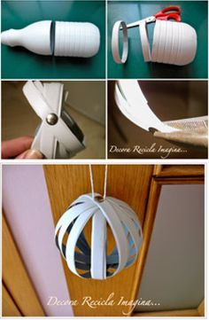DIY Plastic Bottle Round Ornament DIY Plastic Bottle Round Ornament