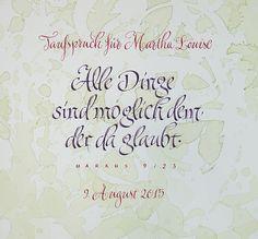 Taufspruch #Schoenschrift #Handlettering #Kalligrafie #Calligraphy #Taufe