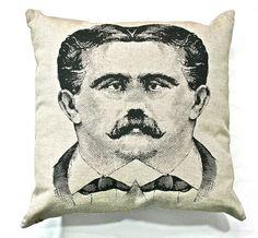 Mustache Siamese Twins Pillow