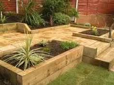 Garden Sleepers are usually used to make pots or garden decoration. You can use them in your vegetable or ornamental garden, for pots, stairs, edgings...