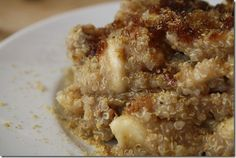 Breakfast Quiona with Bananas and Brown Sugar