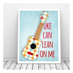 Ukelele ArtInstant Download Art Print Lean on Me by CallMeArtsy, $5.00