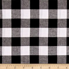 "Cotton + Steel Checkers Yarn Dyed Woven 1"" Black from @fabricdotcom  From Cotton + Steel, this lightweight woven yarn dyed gingham fabric is extremely versatile. It can be used to create stylish summer dresses, children's apparel and blouses. It can also be used to make tablecloths, curtains and more! Checks measure 1''. Remember to allow extra yardage for pattern matching."