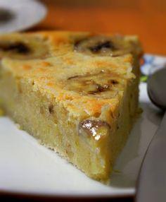 Gâteau banane et chocolat blanc - Un gâteau surprenant et différent, mais néanmoins délicieux!