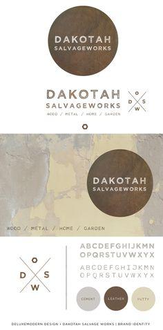 Brand Identity for Dakotah Salvageworks | Deluxemodern Design
