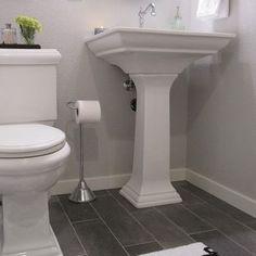 Bathroom grey floor Design Ideas, Pictures, Remodel and Decor