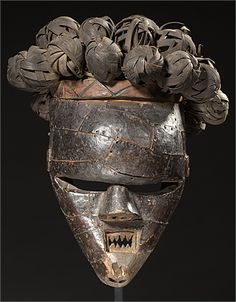 African Masks, African Art, Bravest Warriors, Congo, Copper, Carving, Statue, House, Ideas