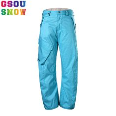 a4f5b63690 2017 Gsou Snow Snowboard Pants Men Outdoor Skiing Pants Waterproof  Windproof Breathable Snow Trousers Plus Size Men Ski Clothes