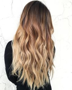 Long+Brown+To+Blonde+Ombre