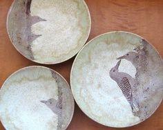 Tazones de anidación Gila pájaros carpinteros rueda por JustMare