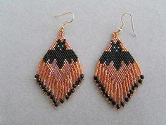 Bat Halloween Earrings in delica beads by DsBeadedCrochetedEtc, $24.00