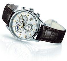Certina Chronographe DS-8 Phase de Lune Quartz wrist watch (silver dial, ref. C033.450.16.031.00)