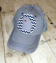 Men Women Vintage Yarn-Dyed Denim Baseball Cap Virginia State Bigfoot Headwear
