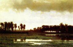 Paul Joseph Constantin Gabriël - Jager in een polderlandschap