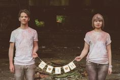 Samantha and Marc's Paint Throwing Engagement Shoot. By Neil Thomas Douglas