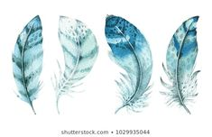 Find Hand Drawn Watercolor Vibrant Feather Set stock images in HD and millions of other royalty-free stock photos, illustrations and vectors in the Shutterstock collection. Watercolor Feather, Feather Painting, Butterfly Painting, Feather Art, Blue Feather, Feather Design, Peacock Feathers, Banners, Free Hand Drawing