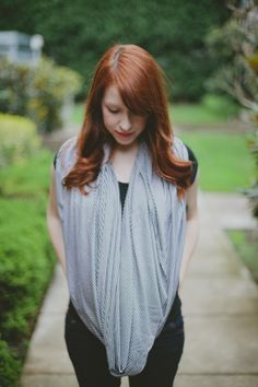 DIY Infinity Scarf (That Doubles as a Nursing Cover)