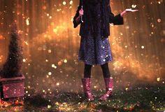pretty sparkly rain