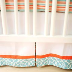 I know that is a crib bed skirt - but that gives me an idea for cafe curtains for my kitchen.  Silly right?