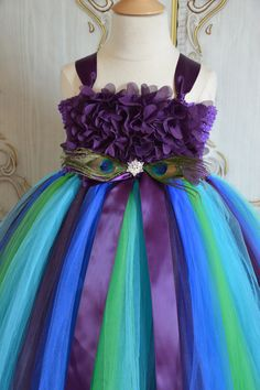 Plum Hydrangea Peacock  tutu dress by TutuSweetBoutiqueINC on Etsy, $60.00