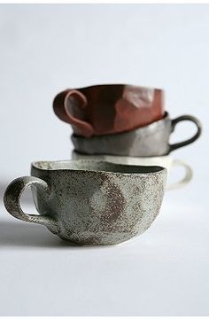 This mug rocks! Rustic colors and handmade-feel, this tea-cup style mug holds up to 8 ounces. Imported. Hand wash. $10 at UrbanOutfitters