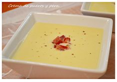 Crema de puerros y pera con jamón.   LA COCINA CON THERMOMIXX Soup Recipes, Cooking Recipes, Recipies, Pasta Soup, Incredible Edibles, Healthy Low Carb Recipes, Cooking Time, Fruit, Tapas