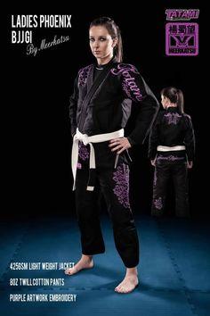 BJJ Gi black purple