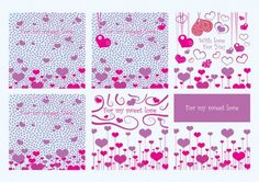 Papel decorativo para tarjetas de San Valentín - Imagui