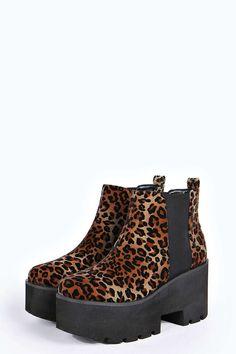 Zina Leopard Print Cleated Boot alternative image