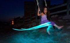 LED Tree Swing: http://www.homecrux.com/2014/09/23/20991/gonzalez-garridos-led-tree-swing-creates-dazzling-light-painting-in-air.html