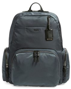 A best seller for Tumi 'Voyageur - Calais' Nylon Backpack with extra large interior capacity. On sale through Nordstrom Anniversary Sale  #nsale #tumi #backpack