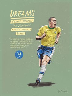 Dreams on Behance God Of Football, Fifa Football, Football Icon, Football Is Life, Retro Football, Football Art, World Football, Vintage Football, Favelas Brazil