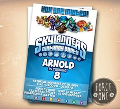 Skylanders Birthday Party Birthday by ForcesOne on Etsy