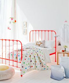 "Like the ""Scout"" Cast Iron bed before it, ""Tilly"" is an authentic and beautifully hand-crafted wrought Iron bed. A bespoke Cast Iron bed made in Australia. Girls Bedroom, Home Bedroom, Bedroom Decor, Bedroom Ideas, Bedrooms, Childs Bedroom, Bedroom Carpet, Floral Bedding, Kid Decor"