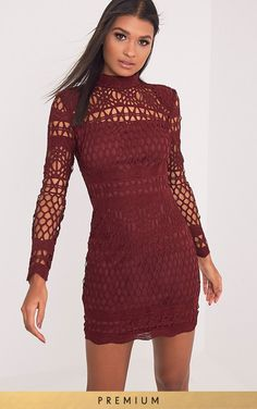 Black Premium Crochet Lace Long Sleeve Bodycon DressWe demand you all lace up! We've got this bea...