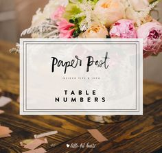 Our favorite tips for personalizing your table numbers without confusing your guests!
