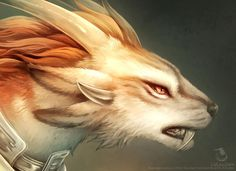 Charr Guardian [Headshot Detail] by Landylachs on DeviantArt