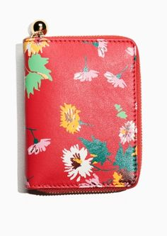 & Other Stories | Floral Leather Wallet