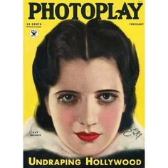 Kay Francis, Photoplay Magazine February 1934 Cover Photo - United States found on Polyvore