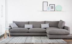 Crate sofa - Kenay Home Living Room Sofa Design, Home Living Room, Living Room Designs, Living Room Decor, Scandi Living, Floor Couch, Chaise Sofa, Modular Sofa, Cool House Designs