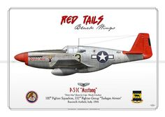 "P-51C Mustang ""red tails"""