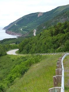The Cabot Trail on Cape Breton Island, Nova Scotia