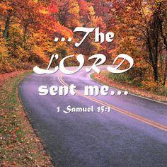 1 Samuel 15:1    The Lord sent me...
