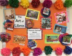 Hispanic Heritage Month Bulletin Board at Mebane Public Library.