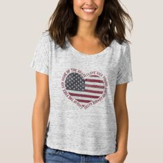 Shop Vintage I Love USA Heart T-Shirt created by FoxxyTees. T Shirts For Women, Clothes For Women, Casual Fall, Cool Tees, Shirt Style, Shirt Designs, Casual Outfits, Vintage, How To Wear