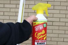 remove silicone caulk with an environmentally friendly product, curb appeal, home maintenance repairs, how to, Lift Off can be bought in hardware stores and Lowe s