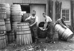 The History and Science of the Barrel- Lesson The Art of Cooperage Old Photos, Vintage Photos, Whisky, Behind The Sea, Pose, Dry Goods, Photos Of The Week, Vintage Photography, Wine Photography
